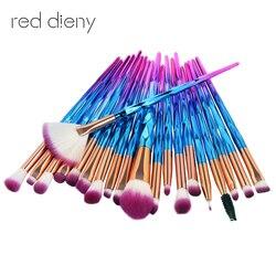 20 pcs Maquillage Pinceaux Pinceaux Pour Les Yeux Cosmétique Make Up Pro Ventilateur en forme de Poudre Brosse Eyehshadow Eyeliner Sourcils brosses