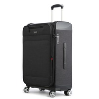 Uniwalker Newest Design Soft & Hard Shell Travel Luggage Hand Lightweight Cabin Size Kids Black Rolling Suitcase Luggage Bag
