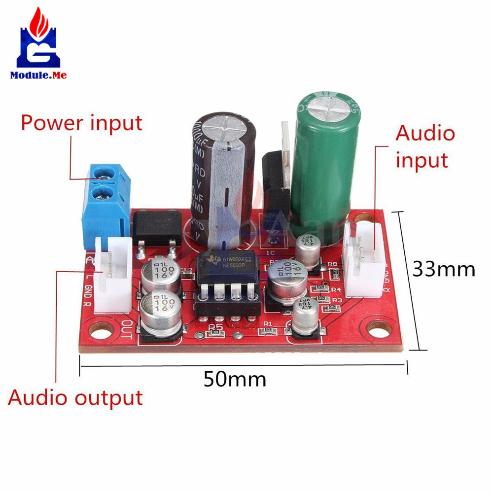 Rectifier Bridge Ne5532 Audio Op Amp Microphone Preamps Pre Preamp Circuits Amplifier Board Ic Socket Diy Kit Dc 9 24v Ac 8 16v In Integrated From