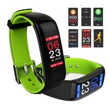 RUIJIE Smart Band P1 PLUS מסך צבע Pulsometer לחץ דם חכם צמיד כושר Tracker הלב הדולר Waterproof wristband