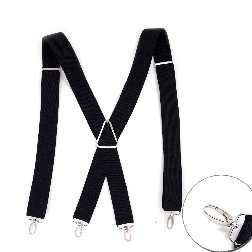 Fashion Suspenders New 4 Clips Braces Elastic Adjustable Suspensorio Bretelles Tirantes Casual Trousers Ligas 3.5*120cm