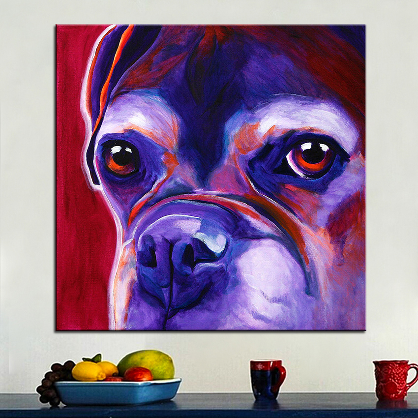 My Wally Boxer Dog Decorative Wall Decor Colorful Pet Home Oil ...
