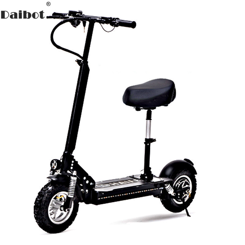 Daibot Adult Electric Bicycle Electric <font><b>Scooters</b></font> 11 Inch Single Motor <font><b>1000W</b></font> 48V Powerful Electric <font><b>Scooter</b></font> With Seat For Adults image