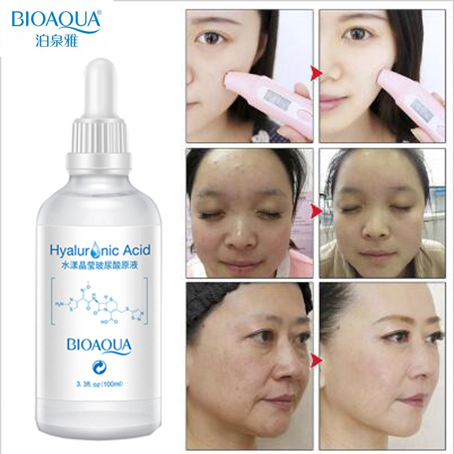 Hydration Skin Care: Bioaqua Hyaluronic Acid Serum Moisturizers Anti Aging Anti