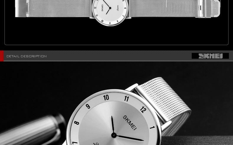 ultra fino aço inoxidável relógio masculino esporte