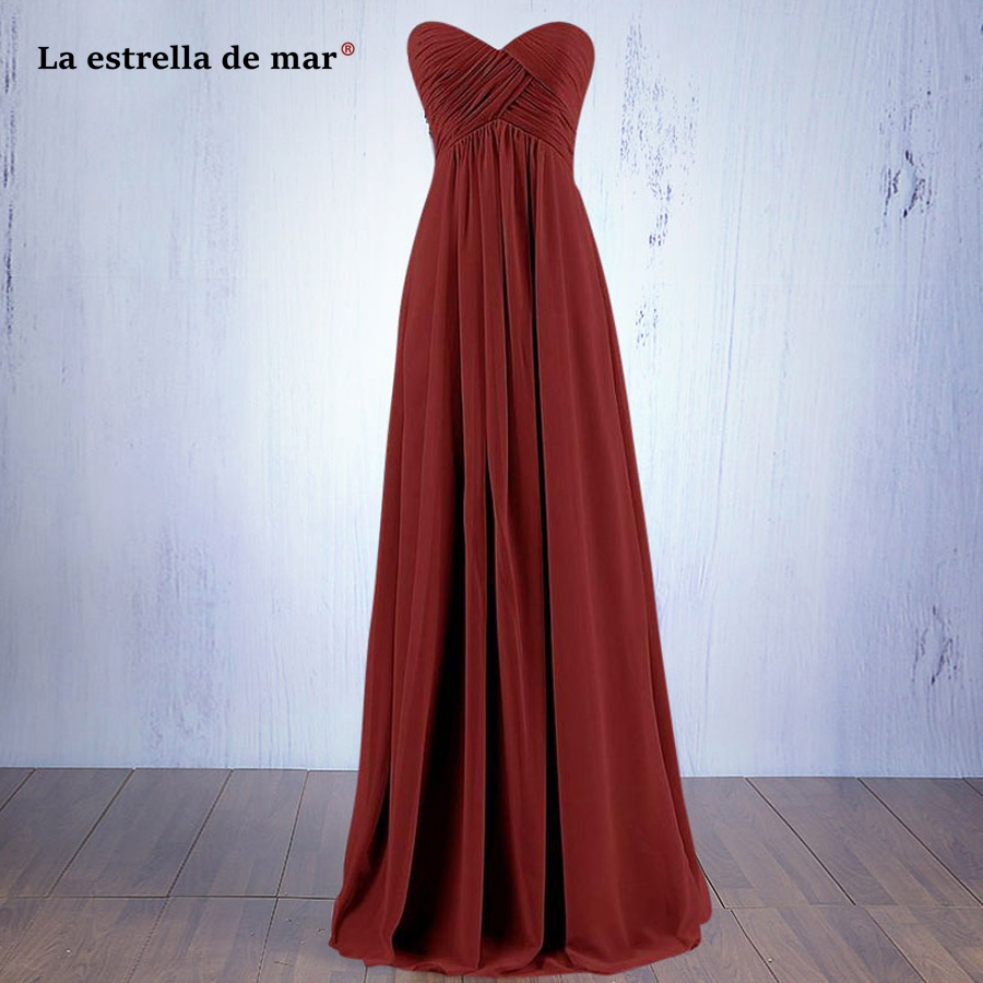 La estrella de mar vestido madrinhaSALE Hot Chiffon Off the Shoulder A Line burgundy royal blue mint green   bridesmaid     dress   long