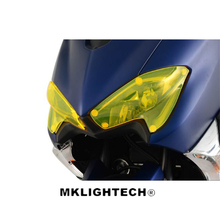 MKLIGHTECH For YAMAHA TMAX530 T-MAX530 2017 Motorcycle Acrylic Headlight Screen Protecter Lens Cover