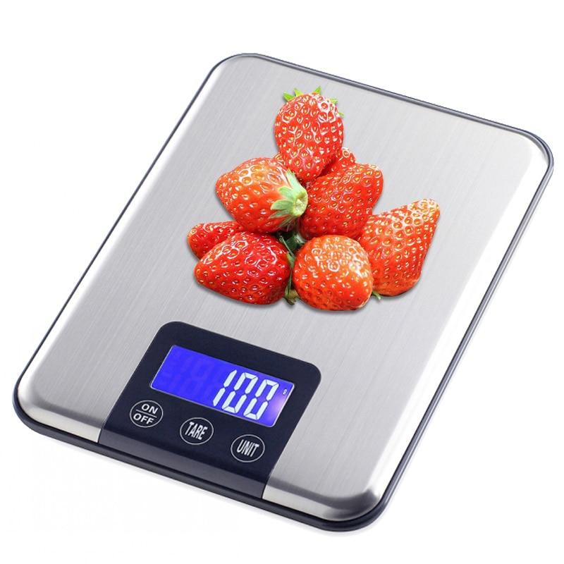 Бытовые кухонные весы 15кг/1 г, инструменты для выпечки, для приготовления пищи, диеты, Электронный почтовый баланс, взвешивание, ЖК-цифровые ...