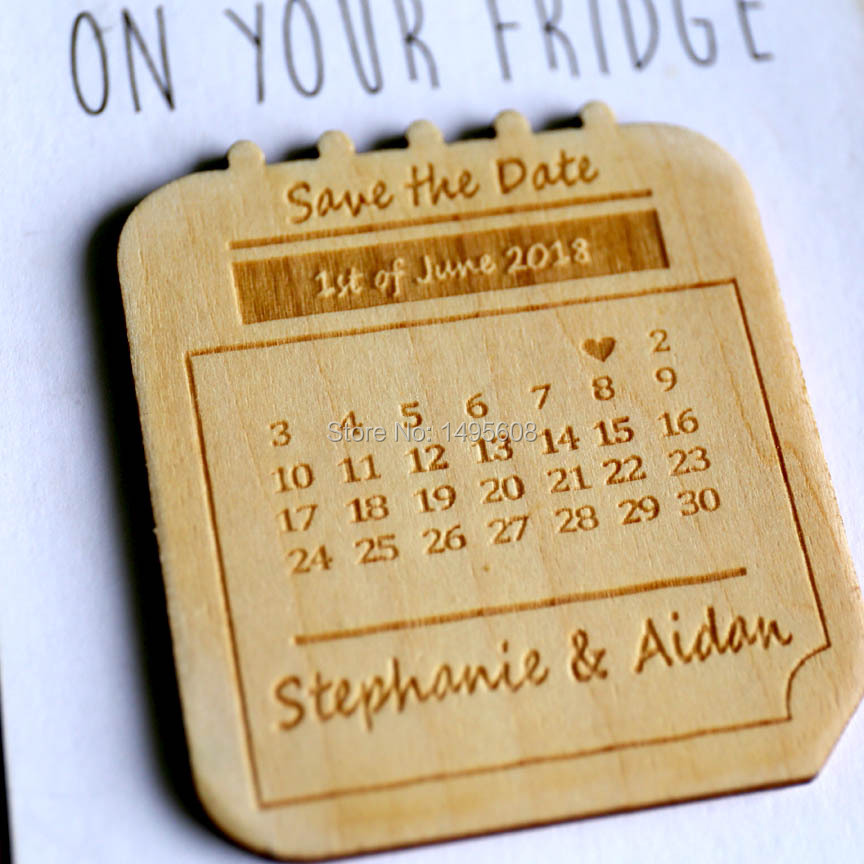 Us 5 82 26 Off Wedding Save The Date Magnets Personalized Invitation Calendar Magnet Set Accessories In Party Favors From Home