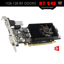ALSEYE Video Card R7 240 GPU 1GB 128Bit GDDR5 R7 200 Series Graphic Cards Support VGA+DVI+HDMI for Gaming Desktop Computer PC