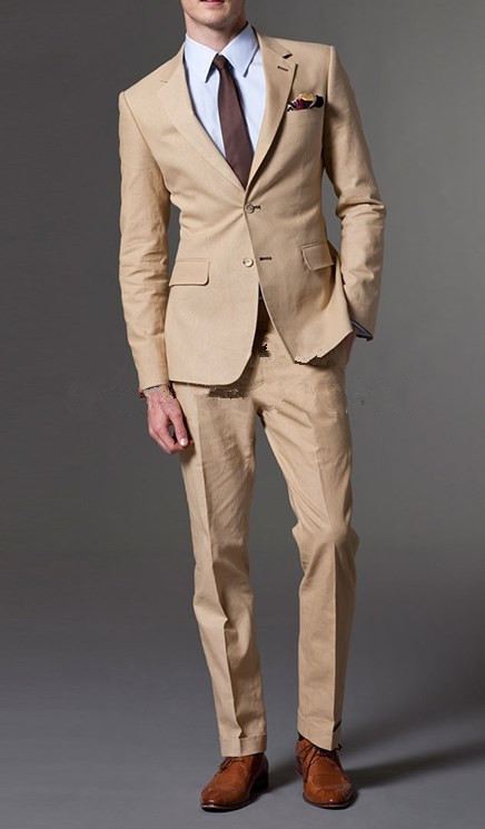 Aliexpress.com : Buy Slim Fit Suits Custom Made Classic Khaki Men