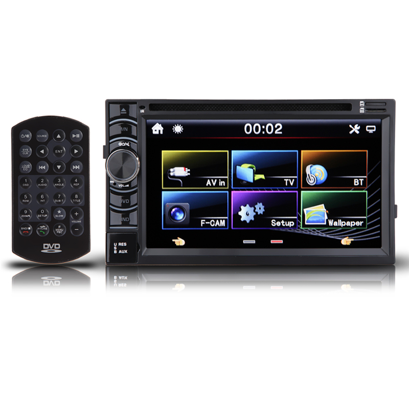 "2 Din Universal Car Stereo Radio DVD Player 6.5"" HD In Dash Bluetooth Wireless Car Player Support FM/MP4/USB/SD/AM"