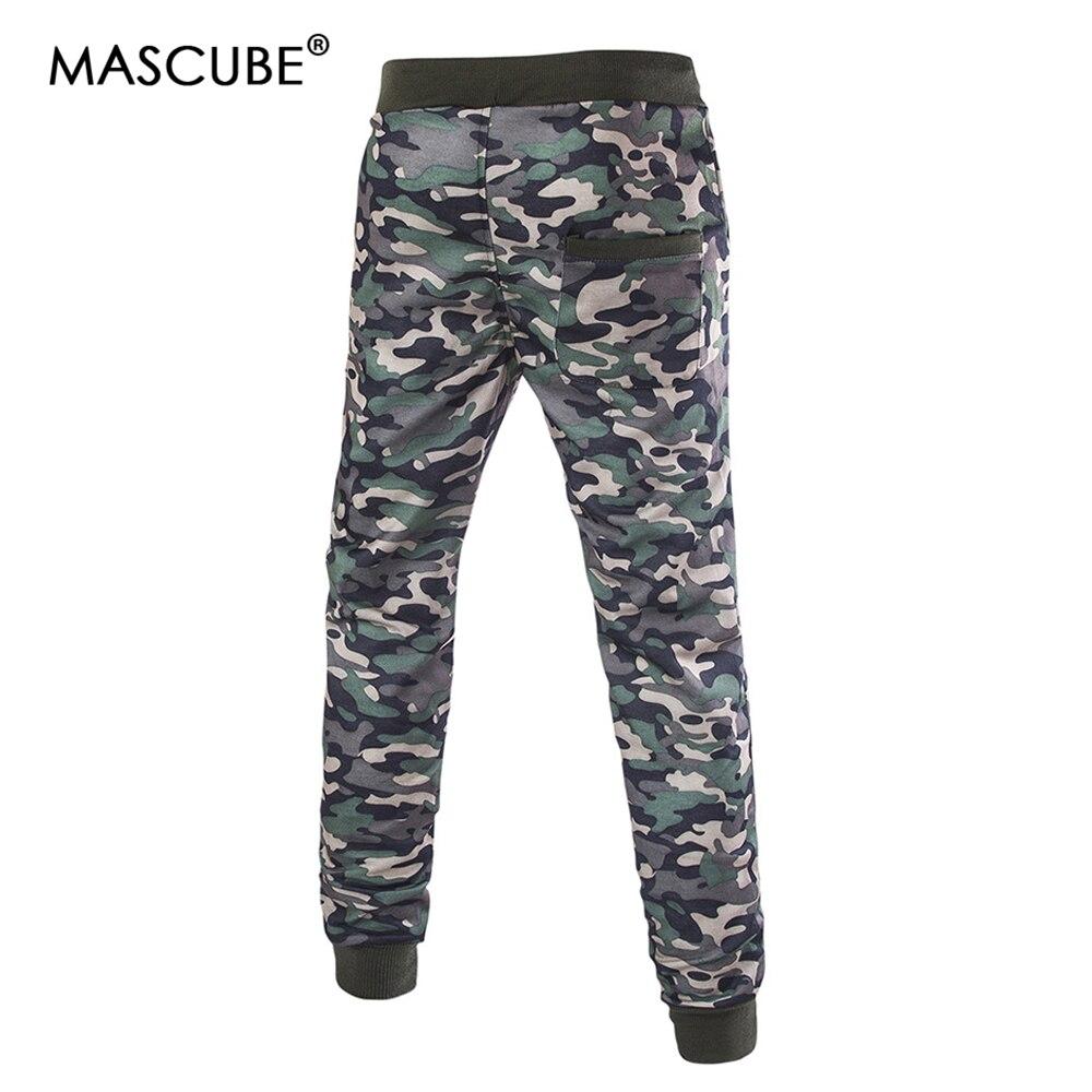 MASCUBE Brand Men Pants Hip Hop Harem Joggers Pants 2019 Male Trousers Mens Joggers Camouflage Pants Sweatpants