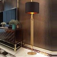 led e27 Nordic Iron Fabric Golden Black LED Lamp LED Light LED Floor Lamp Floor Light For Foyer Study Dinning Room Bedroom