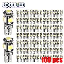 цена на 168 Bulb T10 LED W5W 168 194 Bulb Canbus No Error 5050 SMD 5 SMD White LED Car Light Wedge Lamp Band Decoder Sign Trun Light 12V