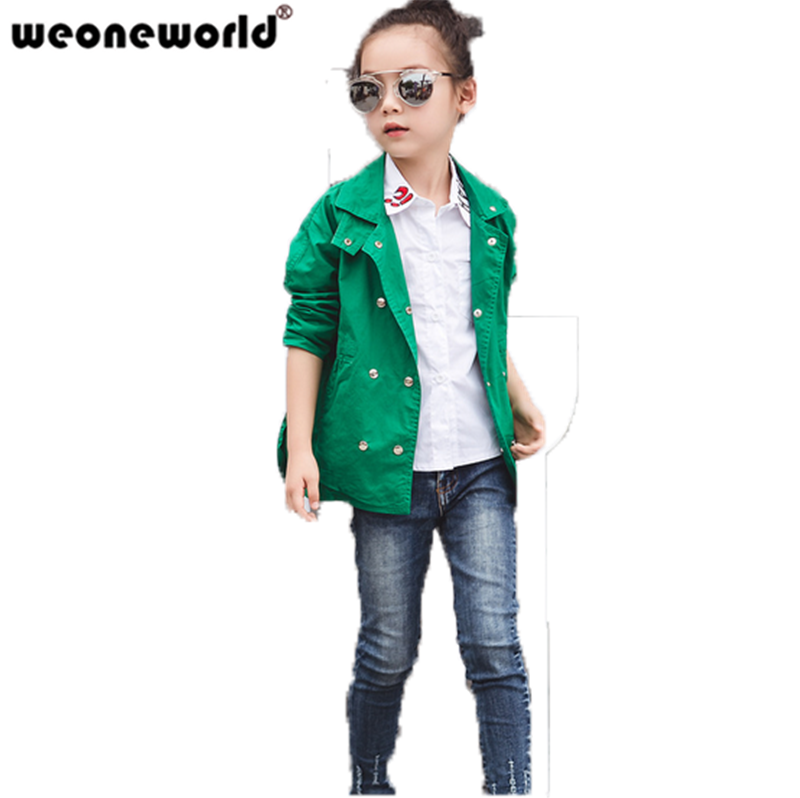 a32513715 WEONEWORLD Girls Jacket Children s Clothing Kids Spring   Autumn ...