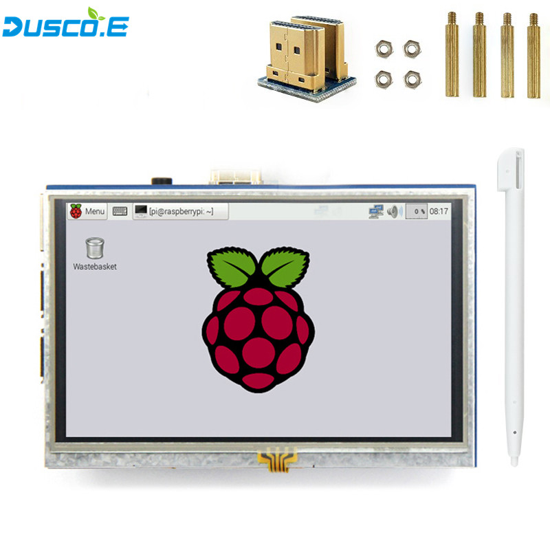 <font><b>5</b></font> zoll <font><b>LCD</b></font> HDMI Touch Screen Display 800x480 TFT <font><b>LCD</b></font> Panel <font><b>Modul</b></font> mit Touch Stift für Raspberry Pi 3 modell B/B + Banana Pi heißer image