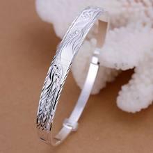 B055 na moda prata cor pulseira 925 moda jóias phoenix bangle/arnajiua avqajmxa