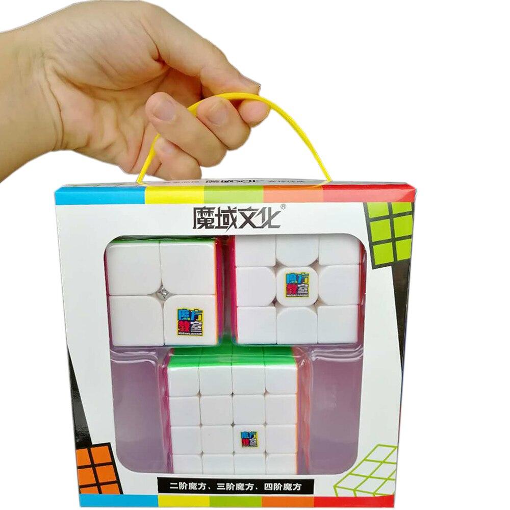 3 PCS/set Speed MoYu' Magic Cubes 3*3*3 on 3x3x3 2*2*2 4*4*4 Professional Classroom Mofangjiaoshi Cube 2x2x2 4x4x4 Cubo Megico