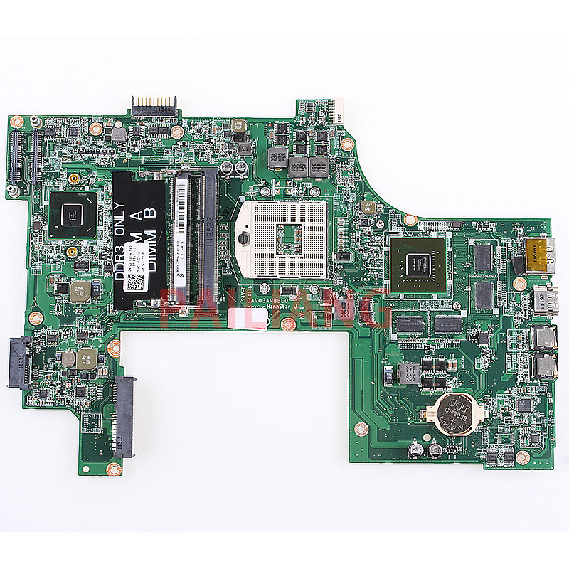 PAILIANG Laptop Motherboard For DELL N7110 GT525M 1GB PC Mainboard CN-037F3F 037F3F DAV03AMB8E0 Tesed DDR3
