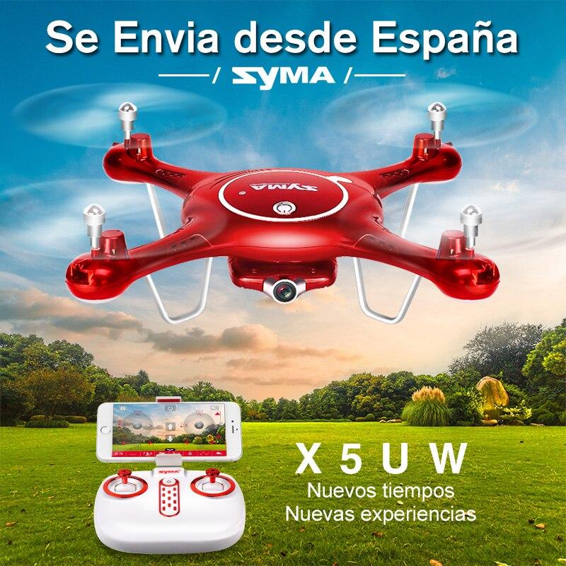 SYMA X5UW Дрон с WiFi камерой HD 720P в режиме реального времени передача FPV Квадрокоптер 2,4 г 4CH RC вертолет Дрон Квадрокоптер дроны
