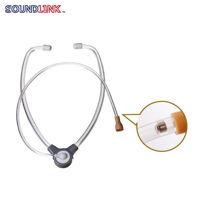 Frete grátis! aparelho auditivo tester stetoclip estetoscópio ouvir tubo de tubulação dupla para ITE, CIC, ITC