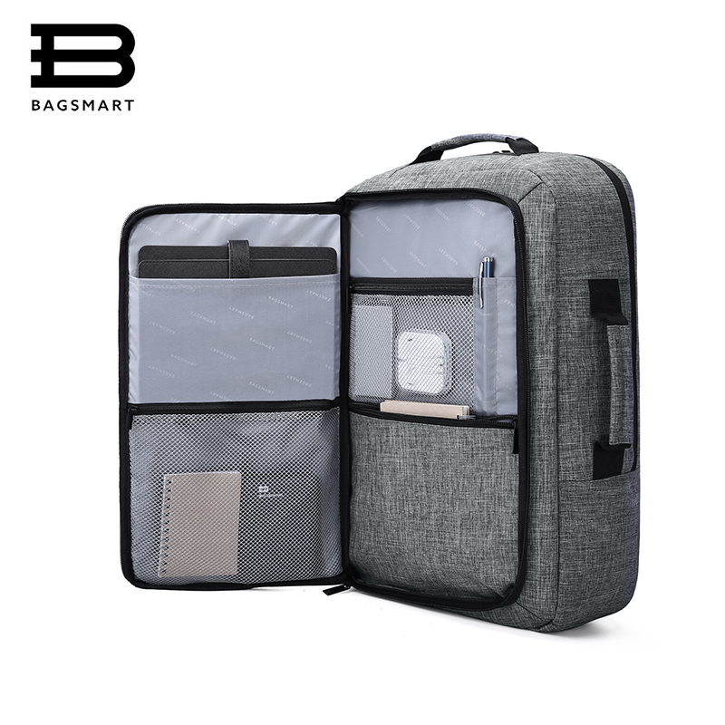 BAGSMART Multifunction Bakpack Men Travel Bag Waterproof Bolsa Mochila for 15.6 Inch Laptop Rucksack School Bag Travel Backpack bagsmart new men laptop backpack bolsa mochila for 15 6 inch notebook computer rucksack school bag travel backpack for teenagers