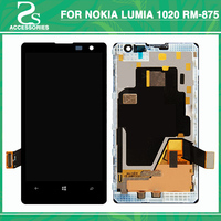 For Lumia 1020 LCD Touch Screen For NOKIA Lumia 1020 LCD Display With Frame TouchPanel Sensor