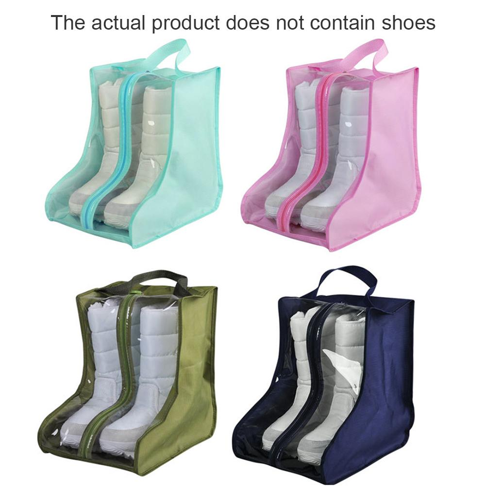 20*28*28cm PVC Boots Shoes Dustproof Bag Storage Pouch Shoes Protector Bag Home Supplies 30