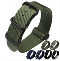 18 20 22 24mm Seller Recommend New Man Black Blue Green Nylon Watch Band Strap Belt Pin Brushed Buckle luxury watch men relogio