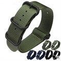 18 20 22 24mm Vendedor Recomendar Nuevo Hombre Negro Azul Verde Perno de la Correa de Reloj de La Correa de Nylon Hebilla Cepillada de lujo reloj de los hombres relogio