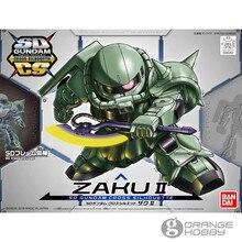 OHS Bandai SD CS Q Ver. Gundam silueta de Cruz Zaku II, Marco SD incluido, conjunto de traje móvil, Kits de modelo