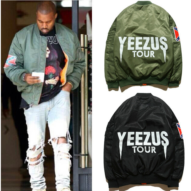 Aliexpress.com : Buy PLUS SIZE Men Bomber ma1 Flight jacket KANYE