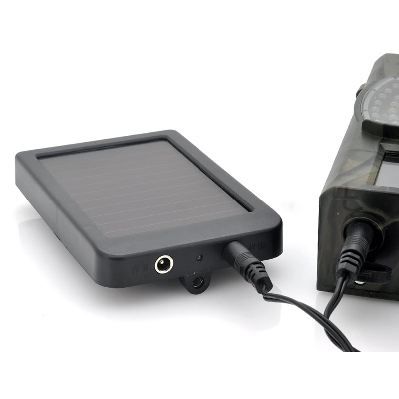 Hunting Camera Battery Solar Panel Charger External Power for Trail Camera HC300M HC350M HC550G HC550M HC700G 3g hunting trail camera with metal safety box and solar charger