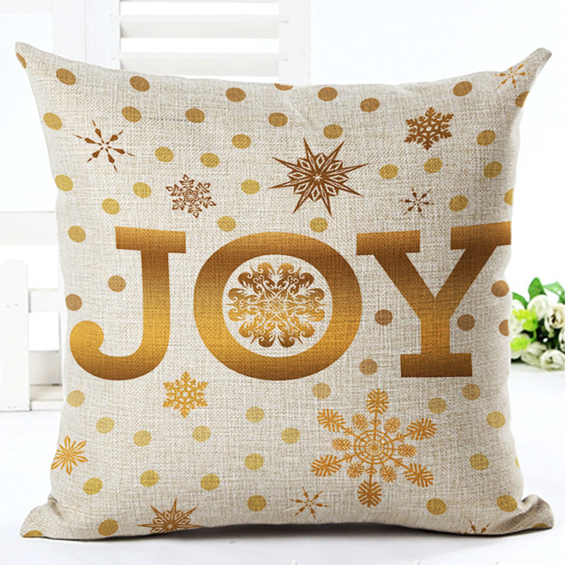 merry christmas decoration cushion letter christmas gifts tree joy mistletoe holly pattern cushion sofa home decorative pillows - Christmas Decorative Pillows