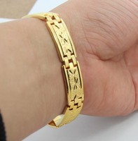 KB12 Free Shipping 12MM Chain Bracelet For Men Wholesale Price Men S Jewelry 18K Gold Plated