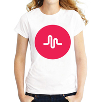 Harajuku T Shirts Women Tops Fashion Music Note Wave Design T Shirt Cool Tops Short Sleeve