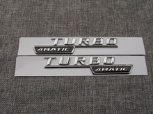 TURBO 4MATIC  ABS Plastic Car Trunk Rear Letters Badge Emblem Decal Sticker for Mercedes Benz