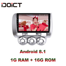 IDOICT Android 8.1 Car DVD Player GPS Navigation Multimedia For Honda Fit Jazz Radio LHD 2004 2005 2006 2007 car stereo(China)