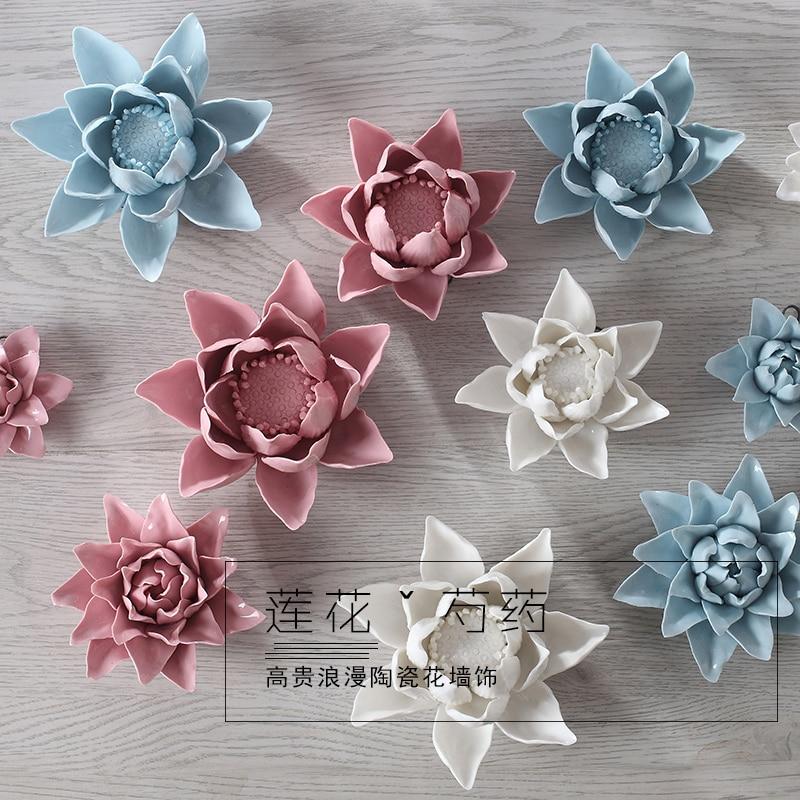 Lotus Decorative Wall Flower Dishe heենապակի - Տնային դեկոր