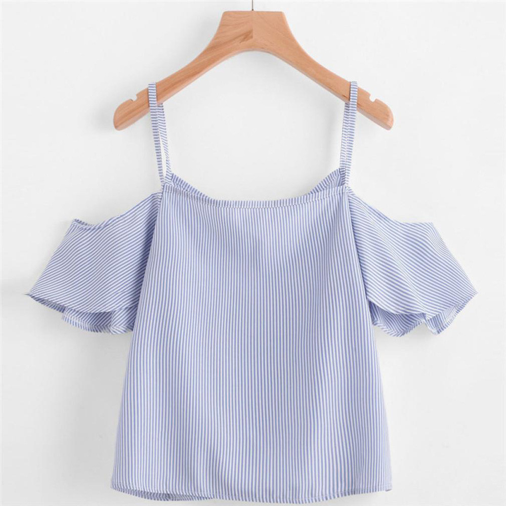 HTB1K3OsSpXXXXXsXXXXq6xXFXXXq - FREE SHIPPING Women Summer Pinstripe Shirt JKP405