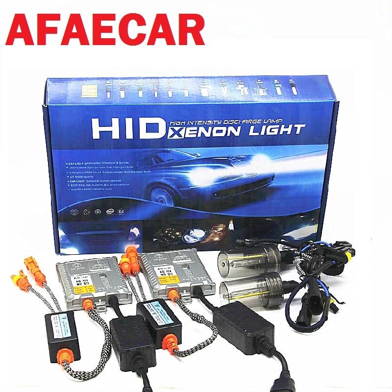 AFAECAR fast bright 55W Xenon HID Canbus Error Canceller H1 H4 H7 H11 9006 9005 H3 headlight Fog Light цена