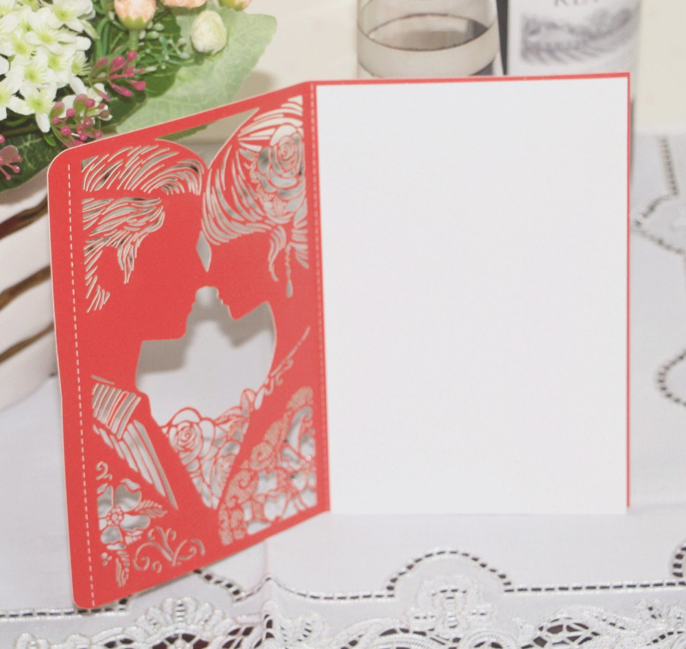 KAZIPA 25pcs/Set Laser Cut Mr & Mrs Invitation Card, Bride ...