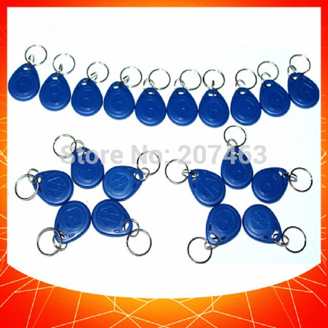 10pcs rfid 125khz writable tag EM4305  Proximity Access control ID tag keyfobs token works with 125khz copier