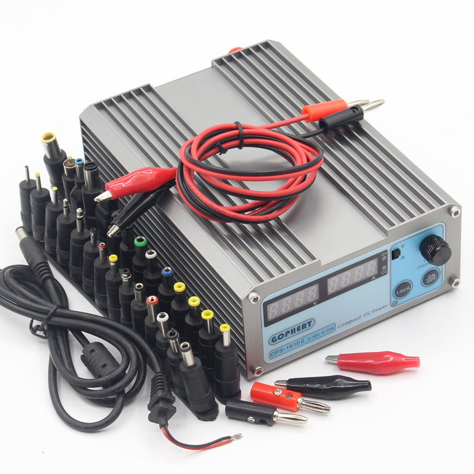 Free Shipping precision Digital Adjustable MINI DC Power Supply CPS-1610 OVP/OCP/OTP low power 16V10A 110V-220V with EU cable