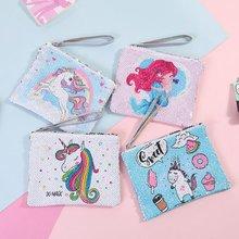 купить Cartoon Sequin Teenage Girl Style Cosmetic Bag For Hand Storage Cute Portable Makeup Large Capacity Toiletry Bag Pouch Case по цене 324.35 рублей