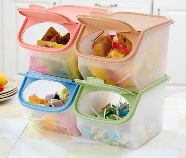 Large Capacity Kitchen Rice Storage Organizer Grain Storage Container Box Cereal Bean Container Sealed Box With