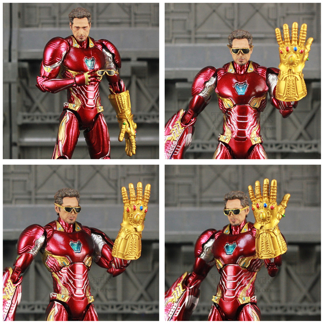 Iron Man Action Figure Mark 50 Version 2 with Infinity Gauntled 6inch 4