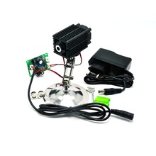 цена на Focusable 808nm 200mW Infrared IR Laser Diode Dot/Line/Cross Module w/ holder and 12V 1A Adapter TTL modulation