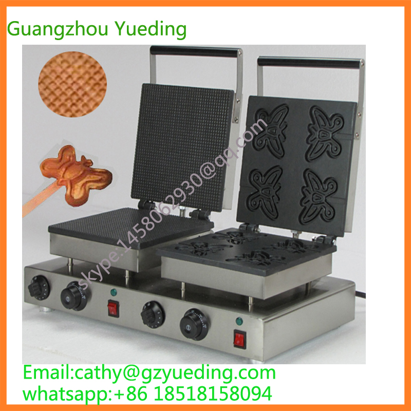 Most popular mini lolly waffle cake pressing making machine for sale